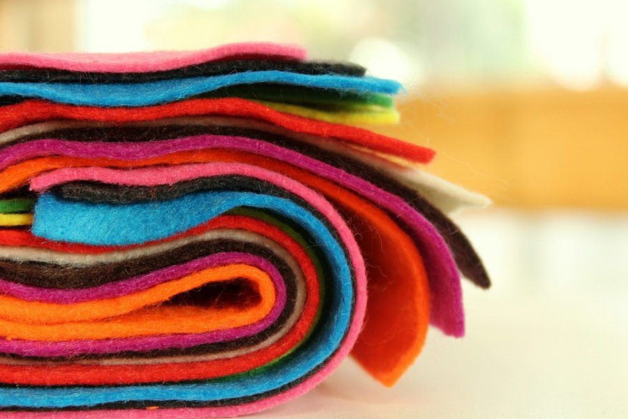 Different colors of cloth