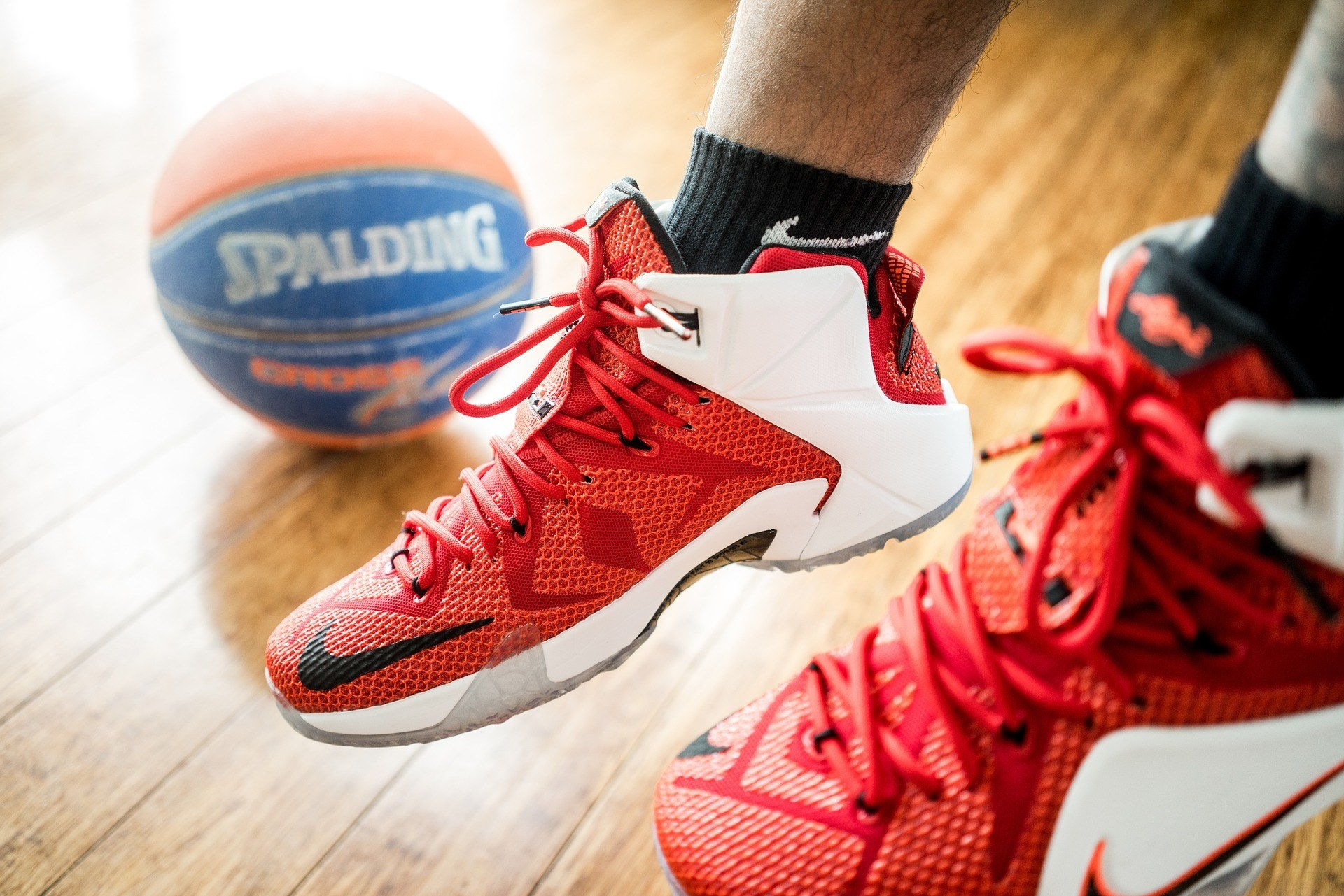 shoes and ball